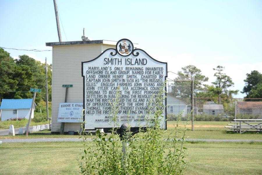 Smith Island sign.