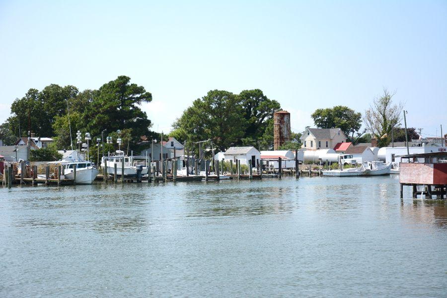 Smith Island waterfront.