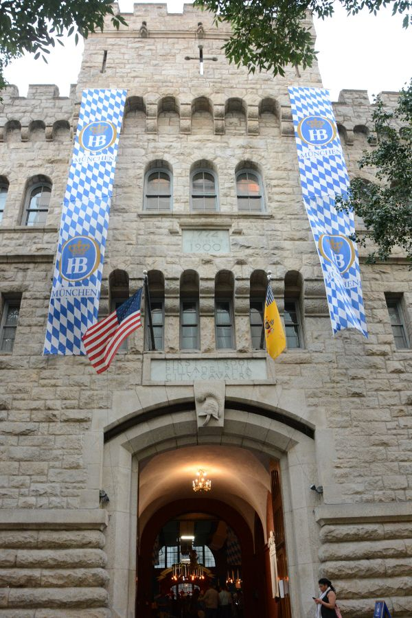 The 23rd Street Armory hosting Brauhaus Schmitz Oktoberfest in Philadelphia.