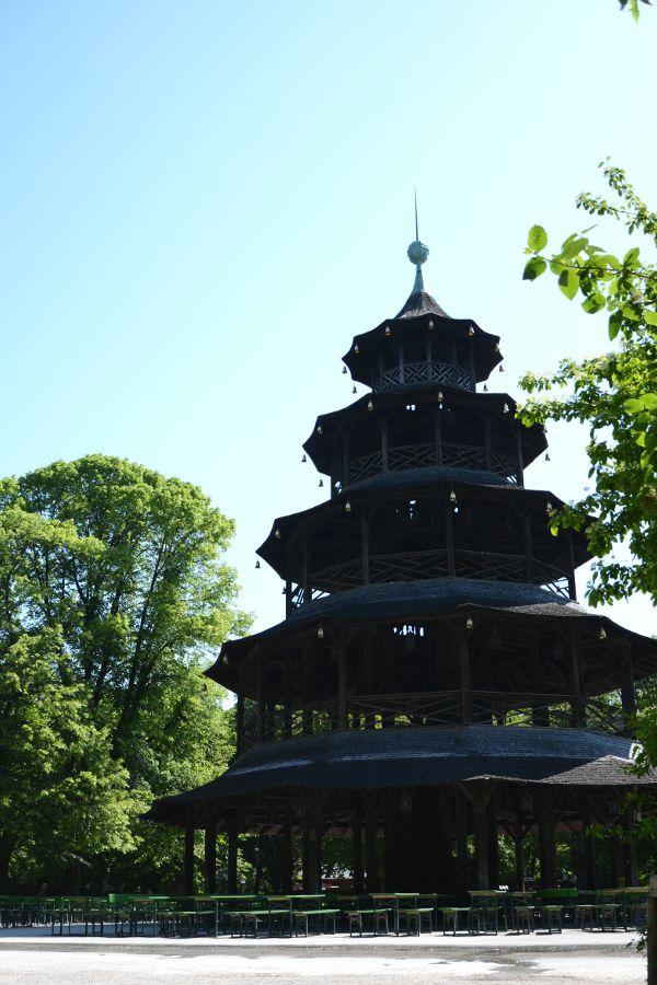 Munich's Chinesischer Turm in Englischer Garten.