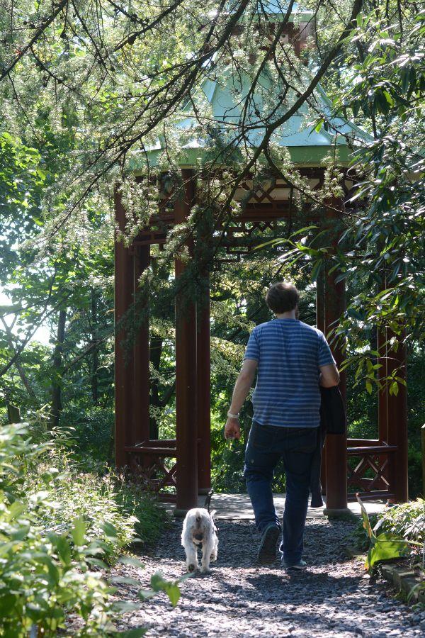A gazebo at the National Arboretum.