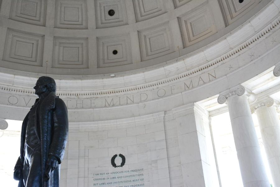 Inside the Jefferson Memorial in Washington, DC.