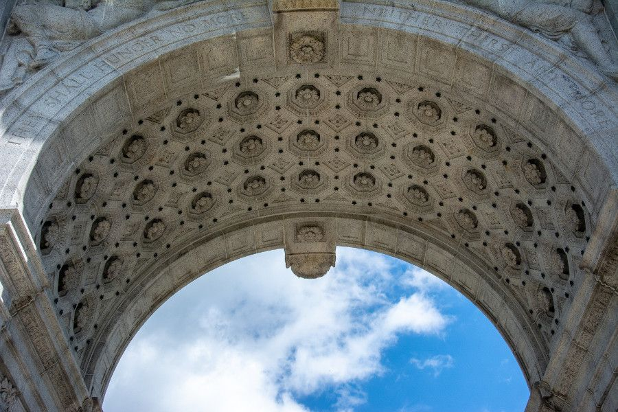 The interior of the National Memorial Arch at Valley Forge National Historical Park.