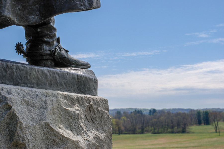 Overlooking meadows at Valley Forge National Historical Park.