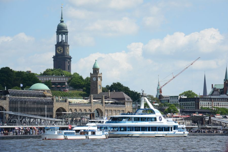 The waterfront in Hamburg, Germany.