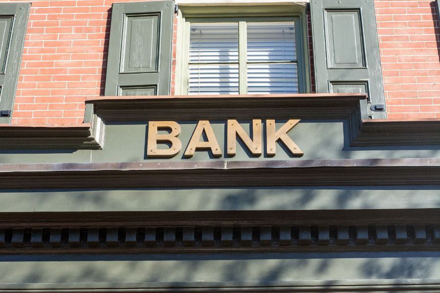 The bank turned visitor center in Historic Odessa, Delaware.