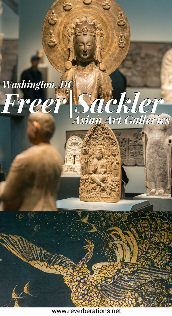 Visit the Freer|Sackler Galleries of Asian Art along the National Mall in Washington, DC. Explore James McNeill Whistler's Peacock Room and priceless artifacts and handcrafts from Asia, Middle East and more. #washingtondc #art