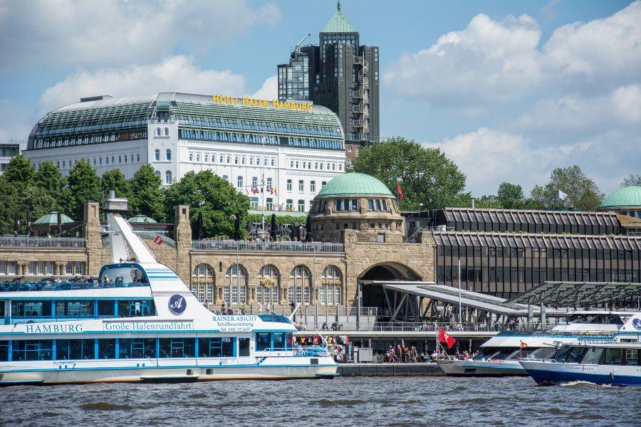 Hamburg, Germany waterfront.