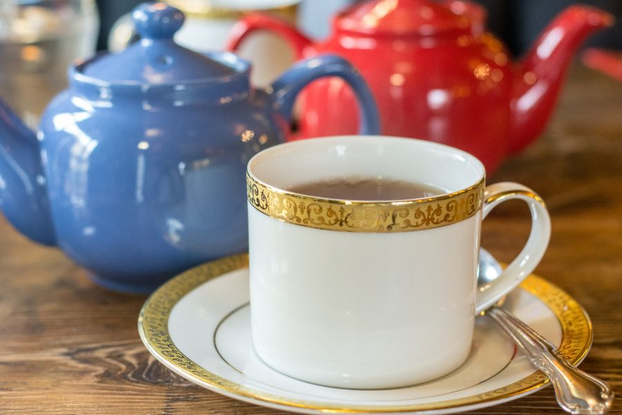 A cup of tea at A Taste of Britain.
