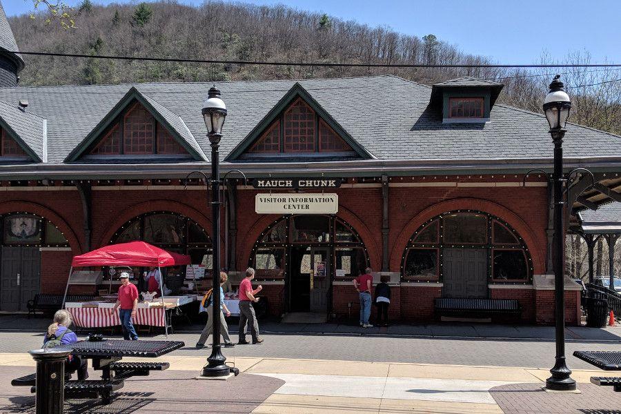 The Jim Thorpe Train Station.