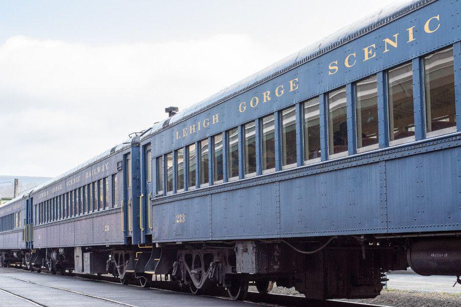 1930s train cars at the Lehigh Gorge Scenic Railway.