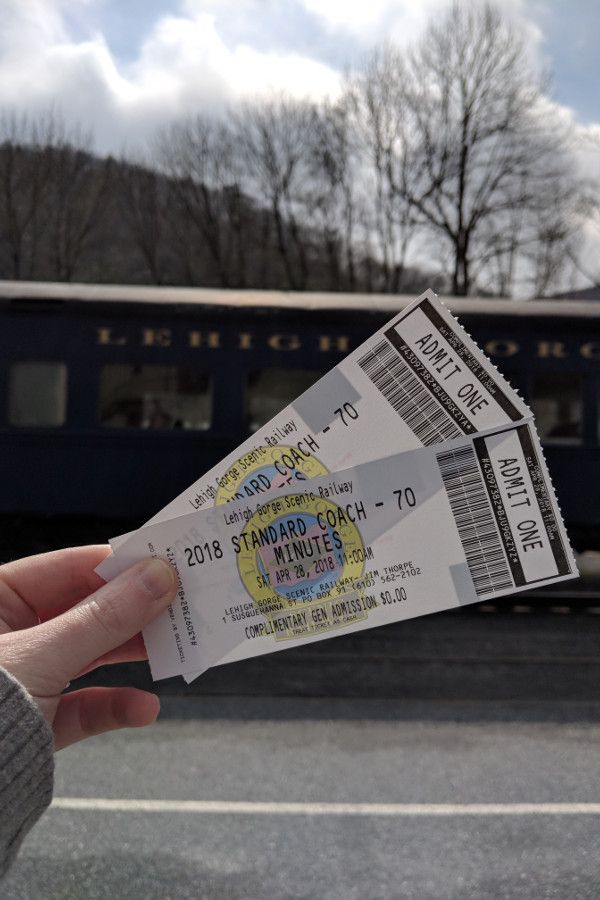 Tickets for the Lehigh Gorge Scenic Railway.