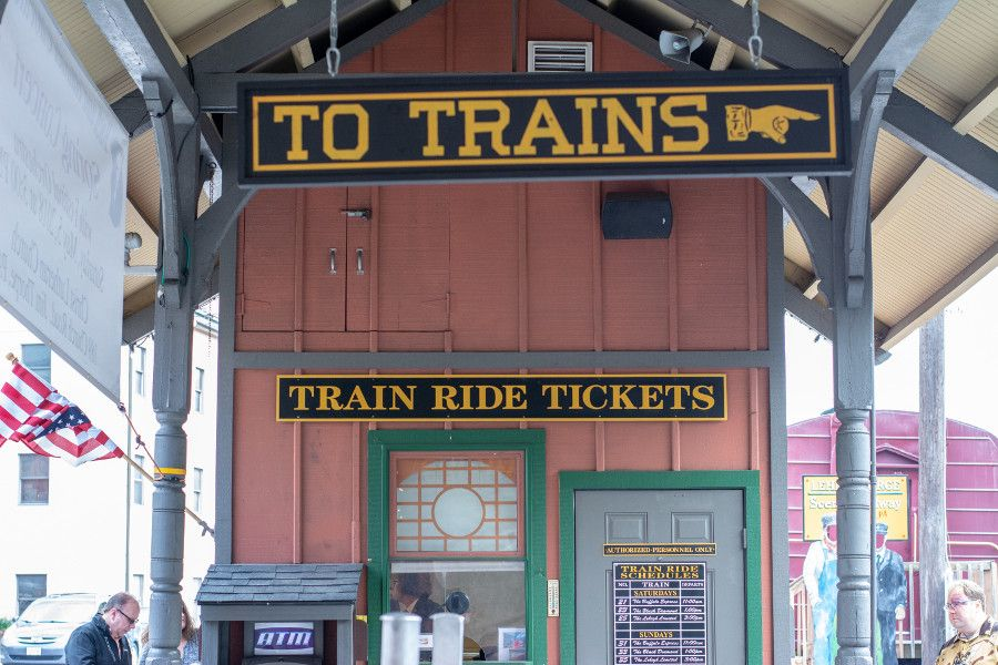 Ticket office at the Jim Thorpe Train Station.