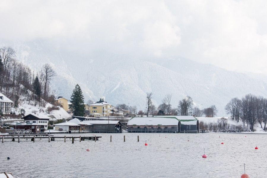 The dock along the Tegernsee.