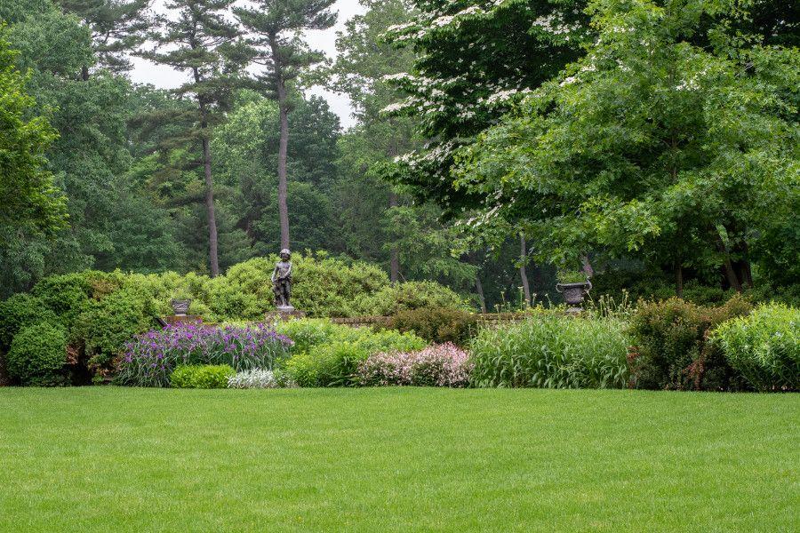 Landscaped garden at Mt. Cuba Center in Delaware.