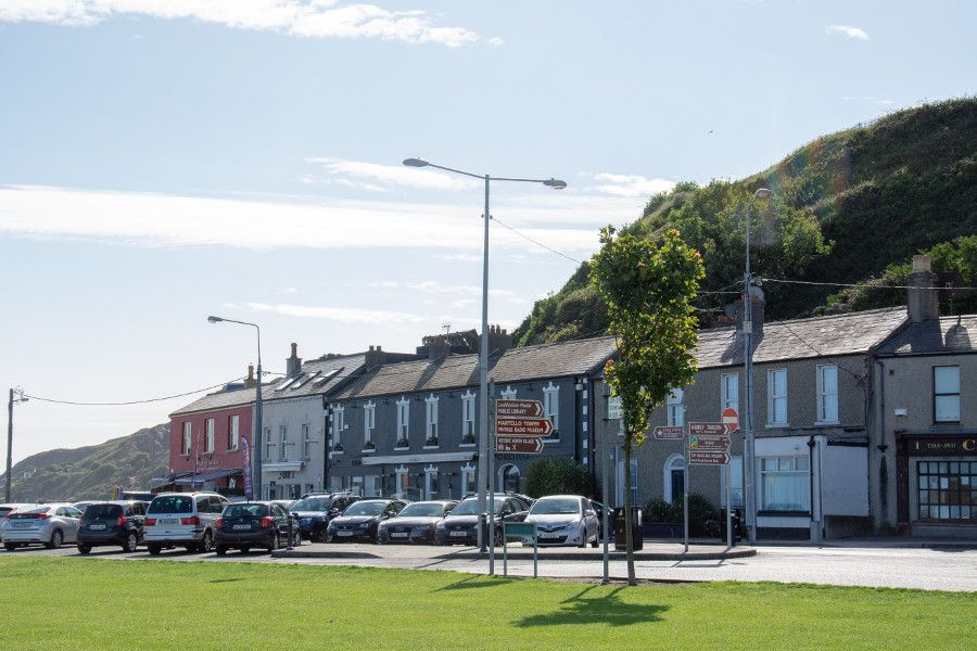 The downtown area of Howth.