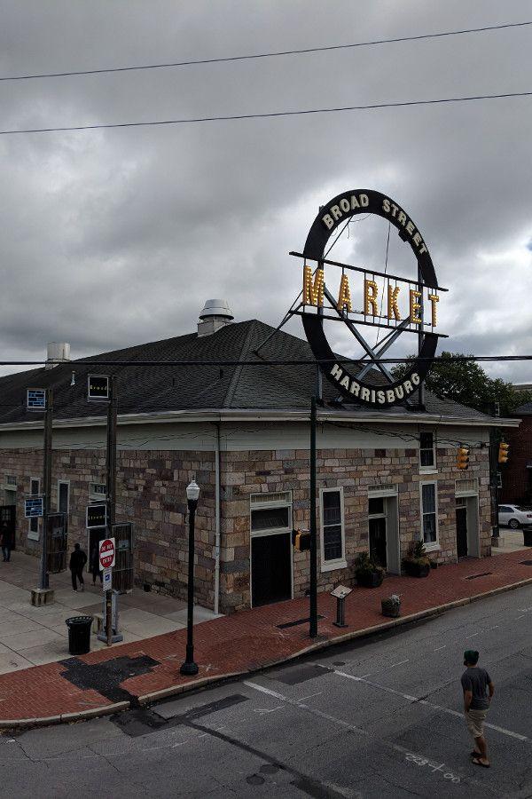 The historic Broad Street Market in downtown Midtown Harrisburg, Pennsylvania.