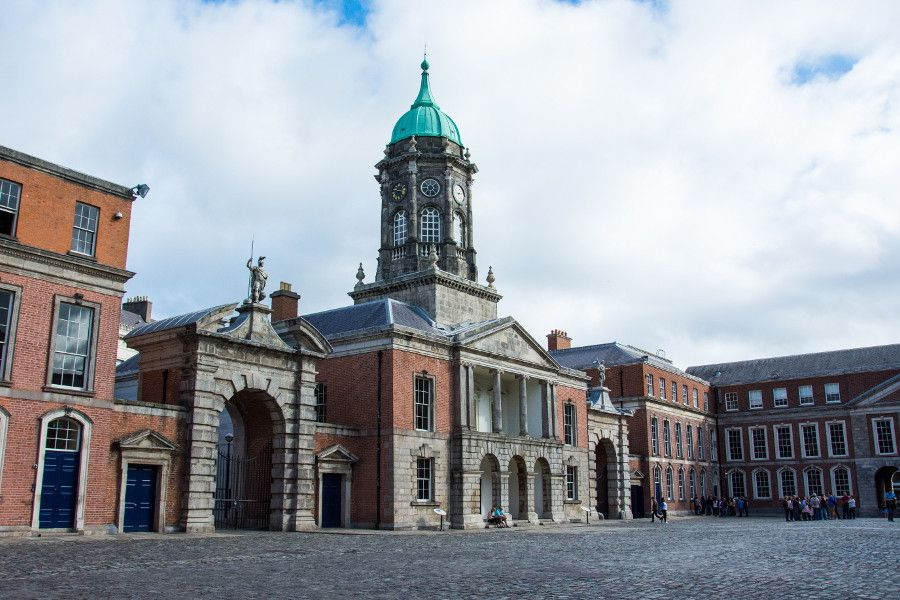 The square inside Dublin Castle.