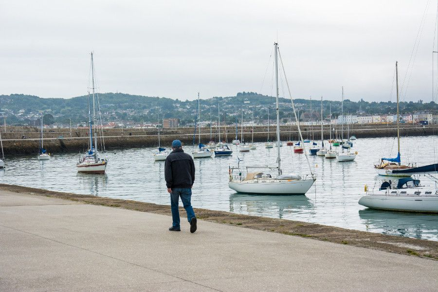 Out for a stroll along the Dún Laoghaire East Pier.