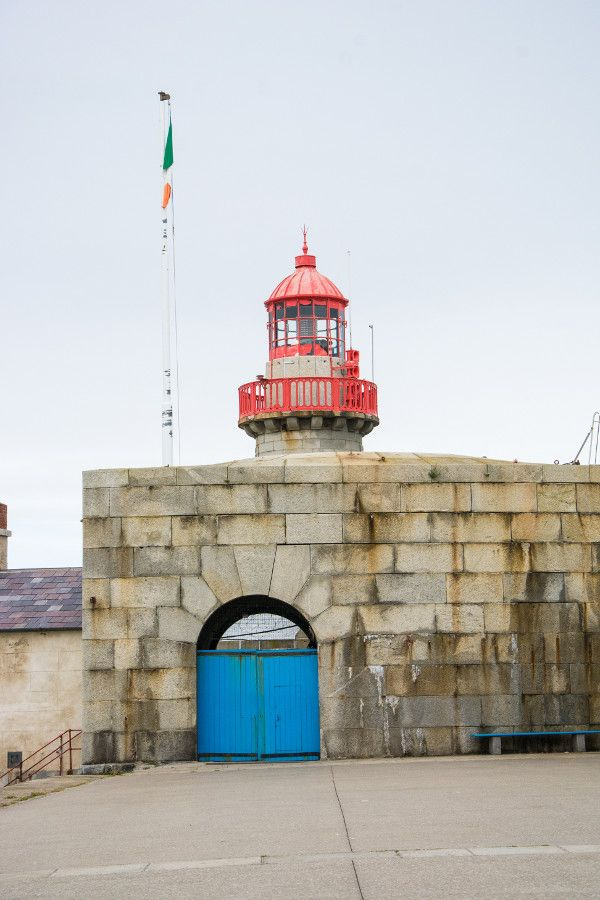 The East Pier lighthouse in Dún Laoghaire, Ireland.