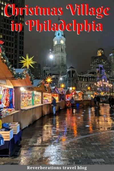 Christmas Village in Philadelphia brings the traditional German Christmas Market Stateside. From stalls with gifts and food, it's a fun holiday experience. #christmas #philly #philadelphia #visitphilly #visitpa #pennsylvania