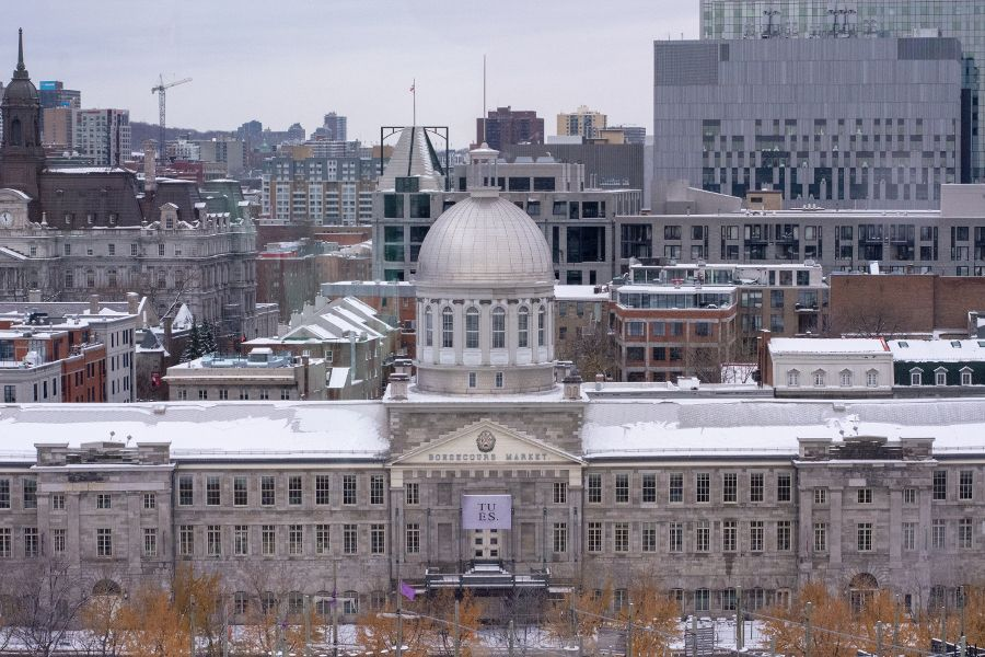 A view over Bonsecours Market in Montreal, Canada.