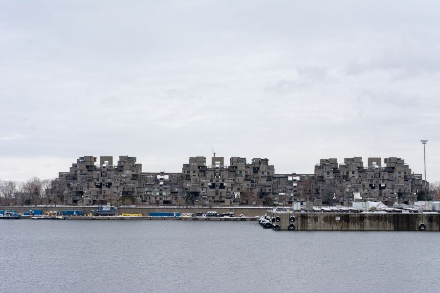 A view of Habitat 67 in Montreal, Canada.