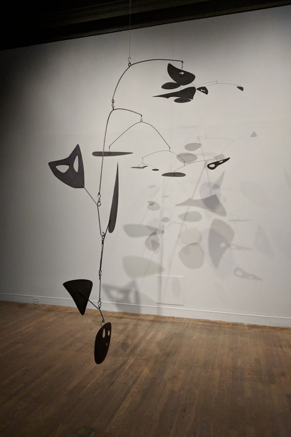 A mobile at the Alexander Calder: Radical Inventor exhibit at the Montreal Museum of Fine Arts.