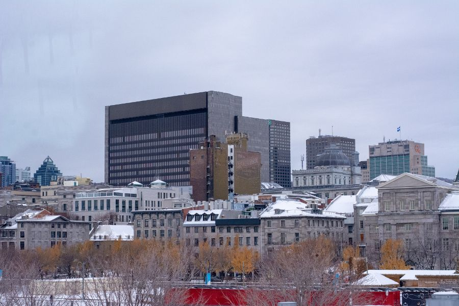 A view over historic Old Montreal.
