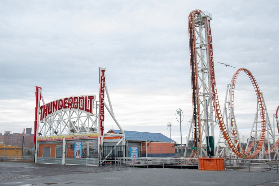 Thunderbolt roller coaster at Coney Island is closed for the winter.