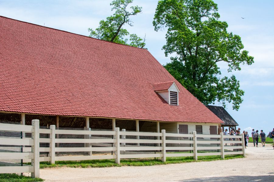 The stable at George Washington's Mount Vernon.