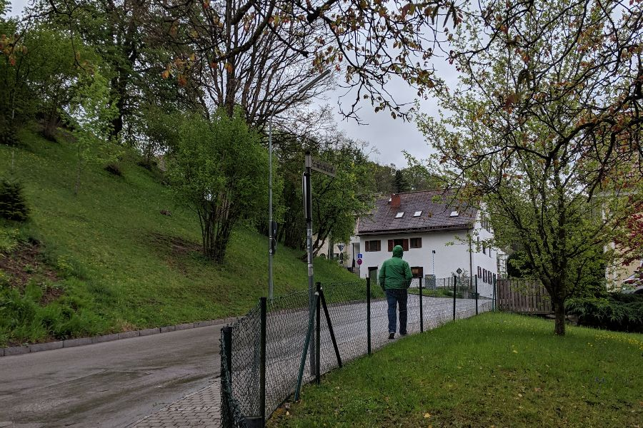 Walking through Herrsching to Andechs.