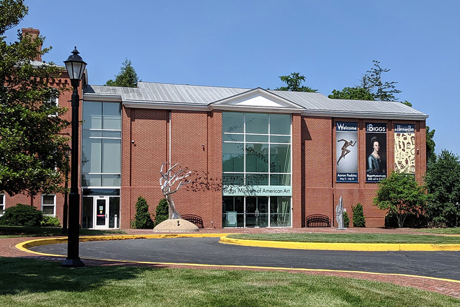 The exterior of the Biggs Museum of American Art in Dover, Delaware.