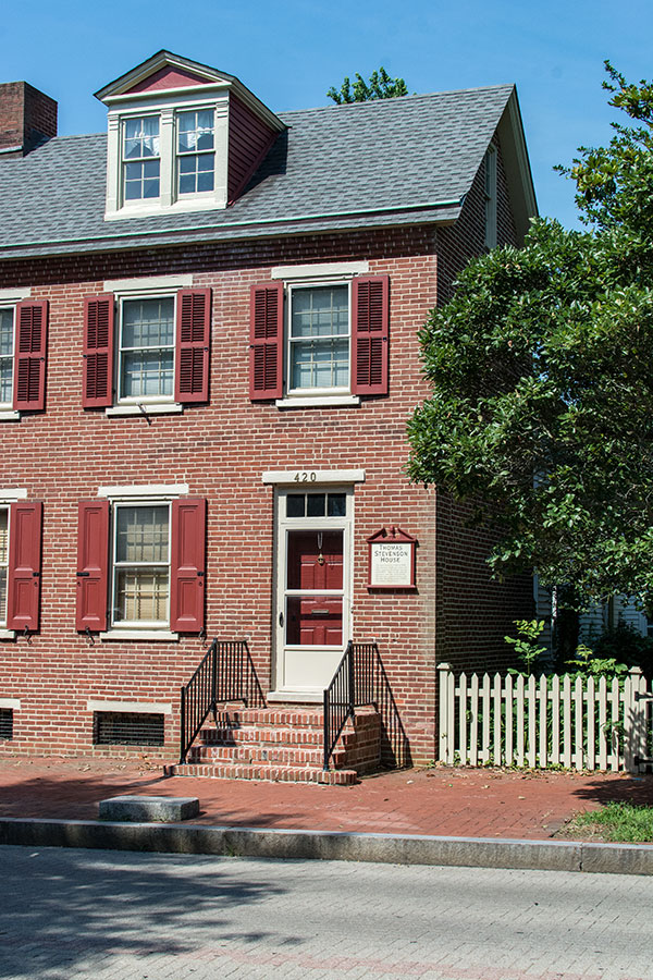 The Thomas Stevenson House in Historic Dover, Delaware.