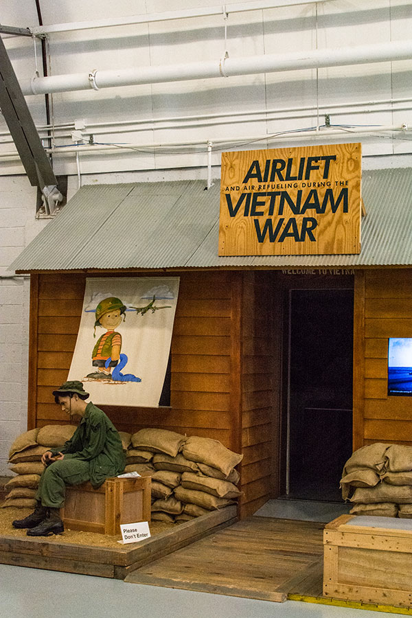 A Vietnam War Airlift exhibit at the AMC Museum.
