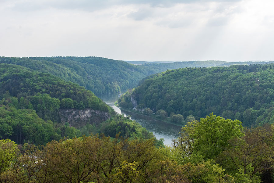 A view over Germany's Danube River Valley from the Liberation Hall.