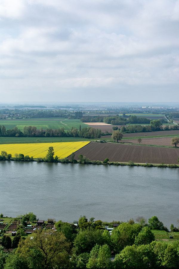 A view over the Danube River Valley from Donaustauf.