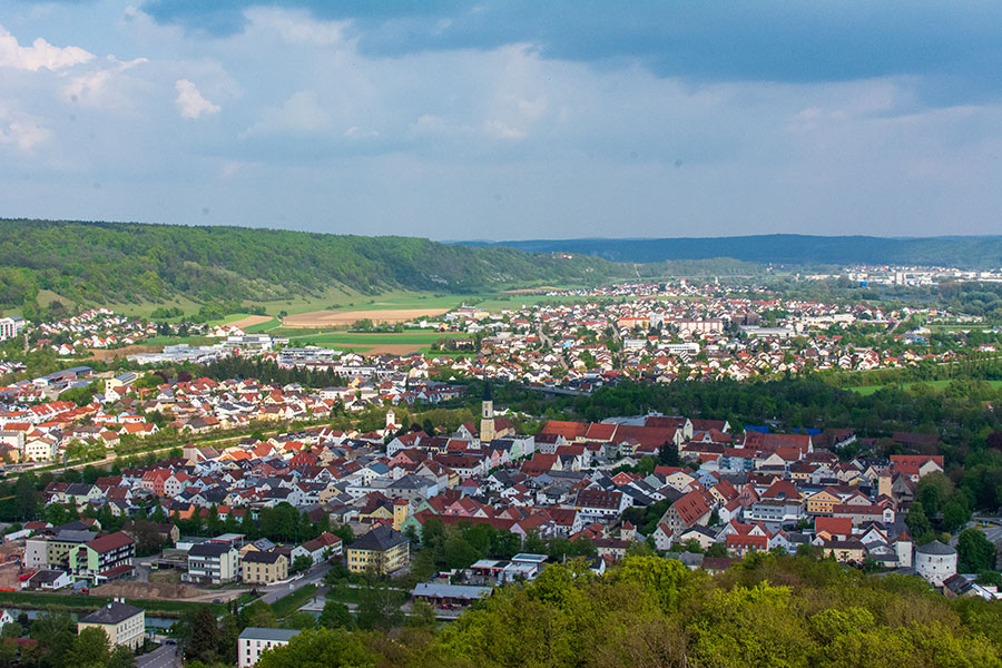 A view over Kelheim, Germany from the Liberation Hall.