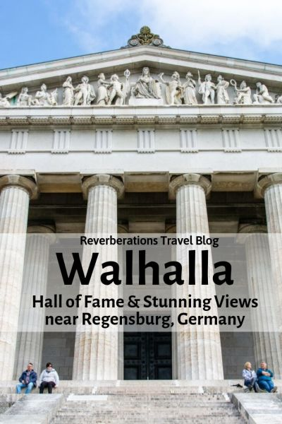 Just outside of Regensburg, Walhalla is an epic Parthenon-like structure overlooking the Danube and housing a Hall of Fame honoring famous Germans. #walhalla #regensburg #bavaria #germany