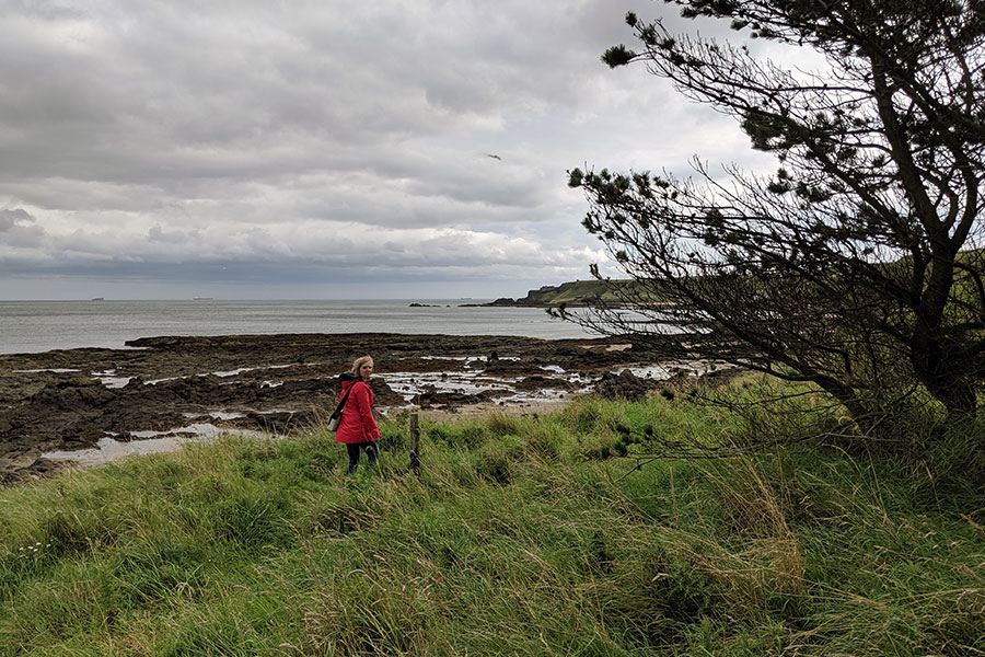 Hiking along the cliffs of North Berwick to Tantallon Castle.