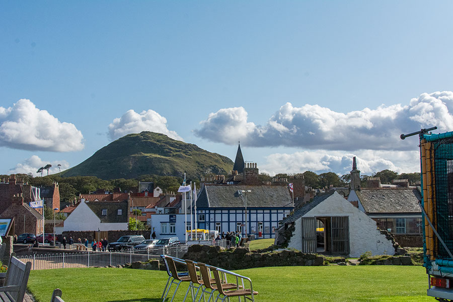 A view of North Berwick Law from the city's harbor.