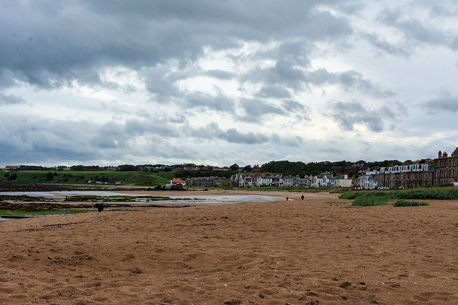 Clouds move in on the North Berwick beach.