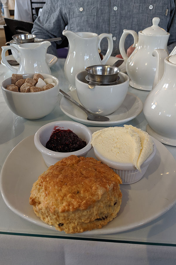 Tea and scones at the Willow Tea Room.
