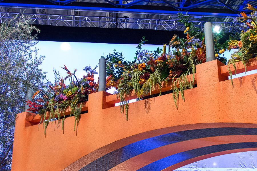 Hanging plants on an arch at the Philadelphia Flower Show.
