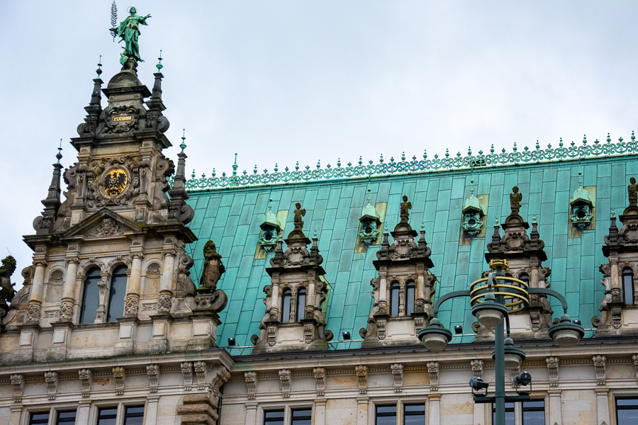 The city hall, or Rathaus, in the city center is an important Hamburg attraction worth seeing for its detailed exterior.