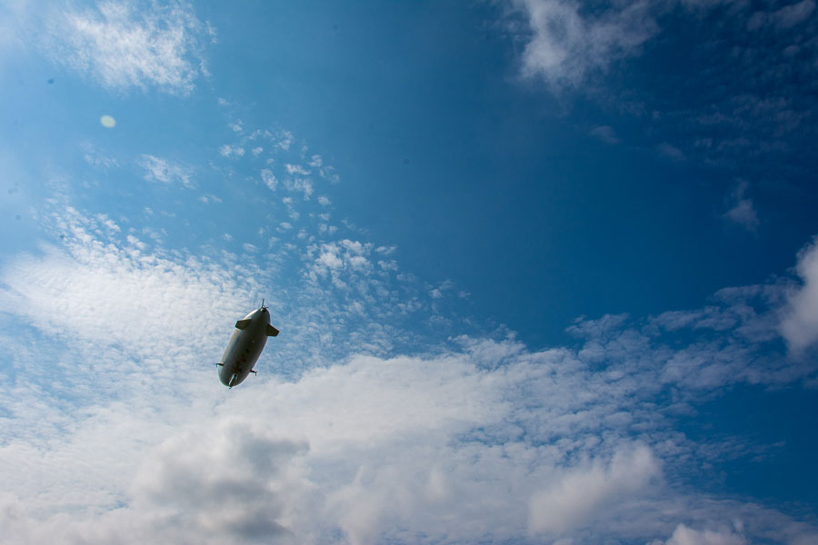A Zeppelin NT in flight.