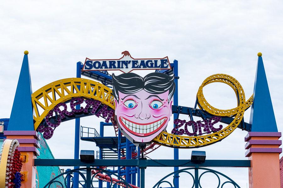The Scream Zone and Soarin' Eagle at Coney Island.