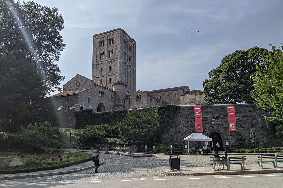 The Met Cloisters in Fort Tyron Park in Manhattan, New York City.