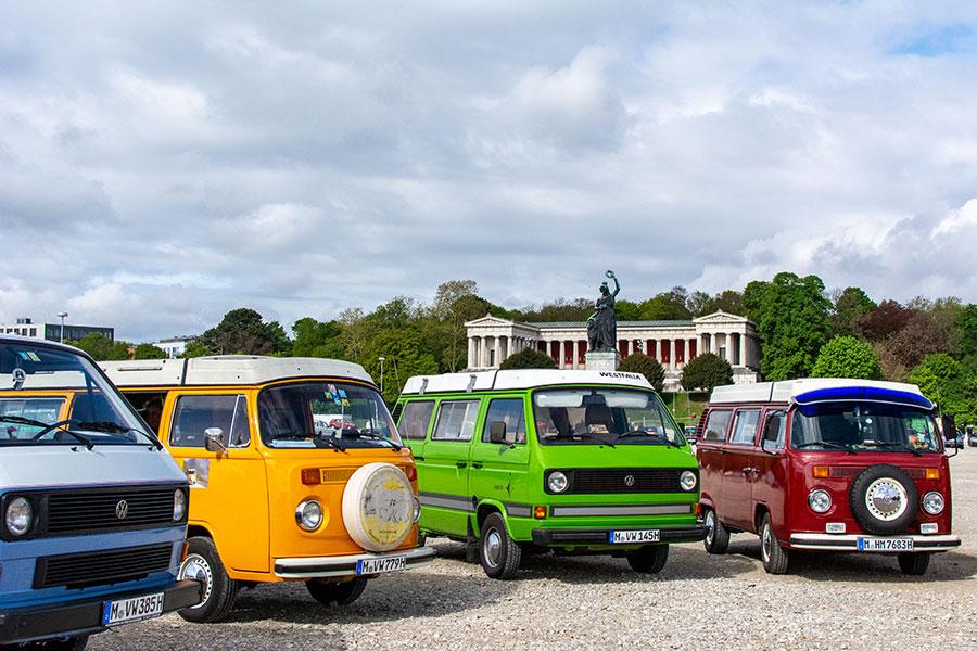 Part of Munich Fruhlingsfest includes a classic car show.