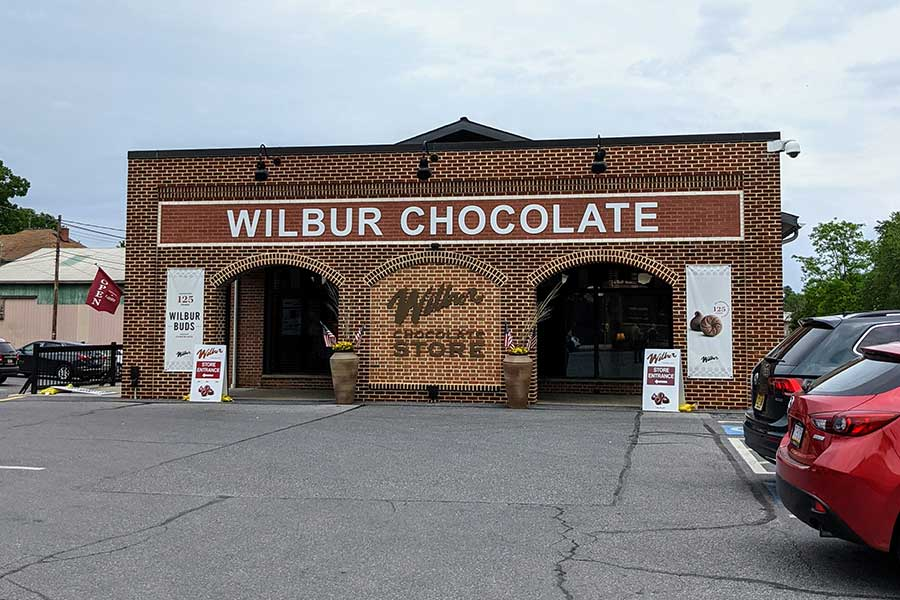 The Wilbur Chocolate Store in Lititz, PA.
